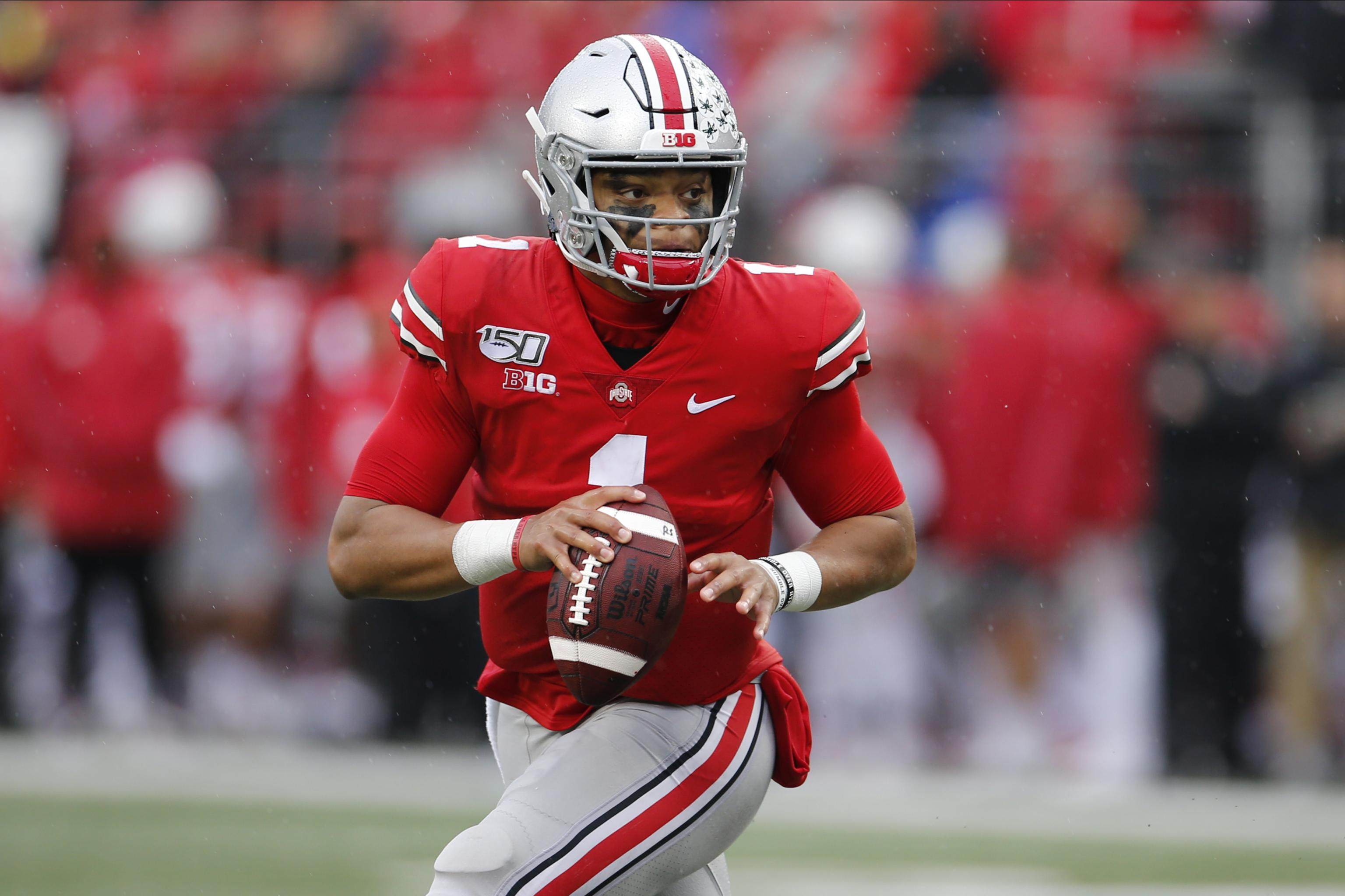 Ohio State QB Justin Fields Says Knee Injury Is at 80-85% Ahead of Clemson  Game | Bleacher Report | Latest News, Videos and Highlights