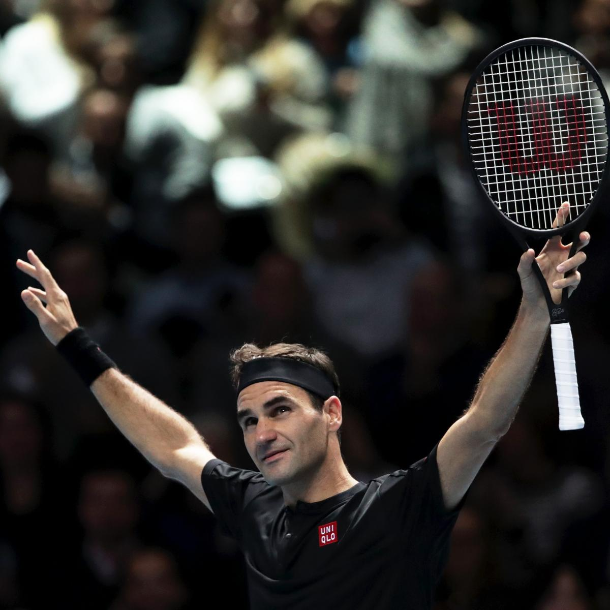 ATP World Tour Finals 2019 Results: Roger Federer Eliminates Novak Djokovic - Bleacher Report