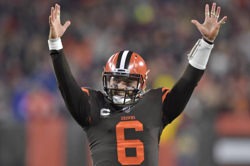 Baker Mayfield Throws 2 Tds As Browns Beat Steelers 21 7 For