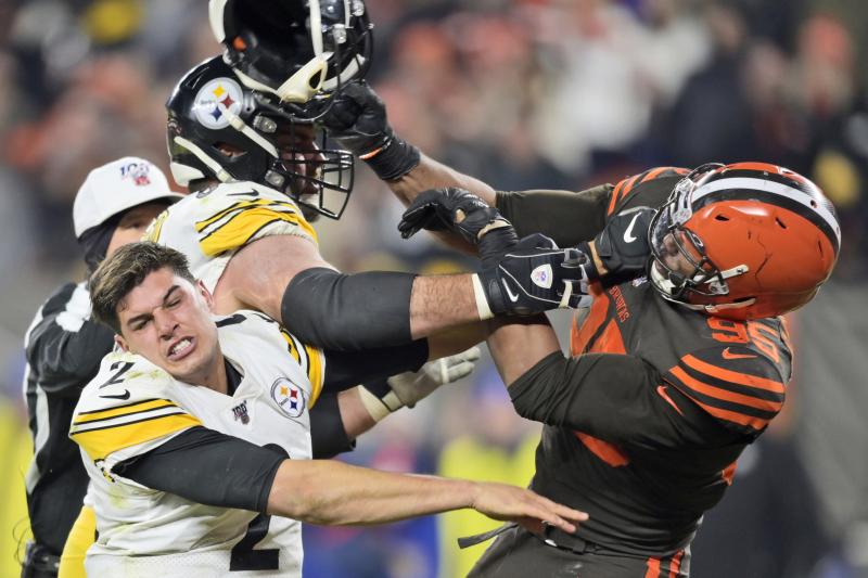 NFL Must Suspend Myles Garrett for Rest of Season After Brutal On-Field Fight