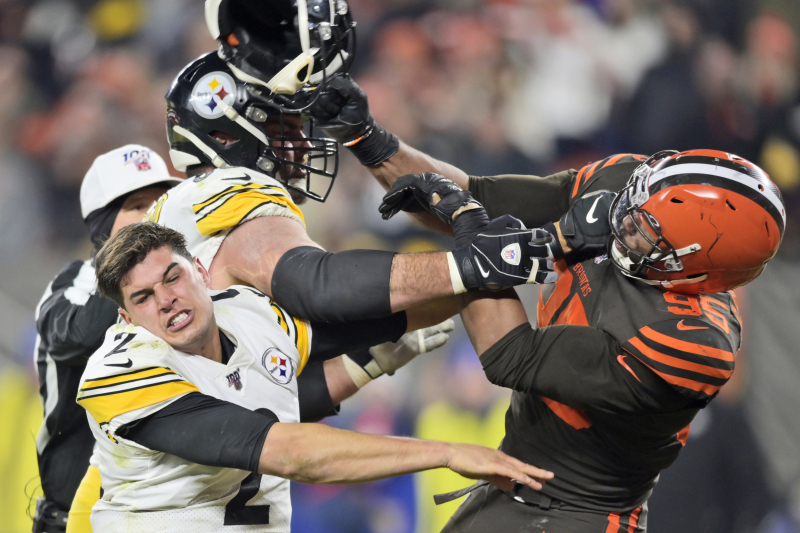 Myles Garrett Apologizes to Mason Rudolph in Statement After Fight vs. Steelers