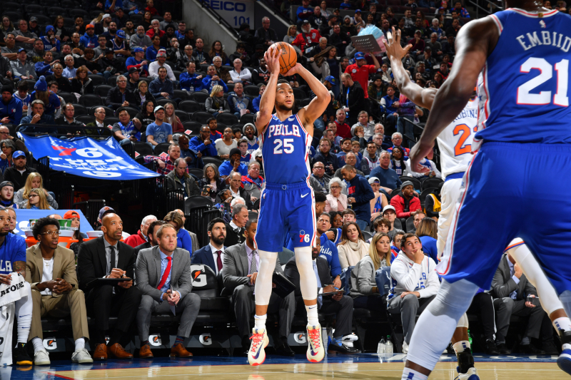 Joel Embiid, Ben Simmons Rally 76ers Past RJ Barrett, Knicks