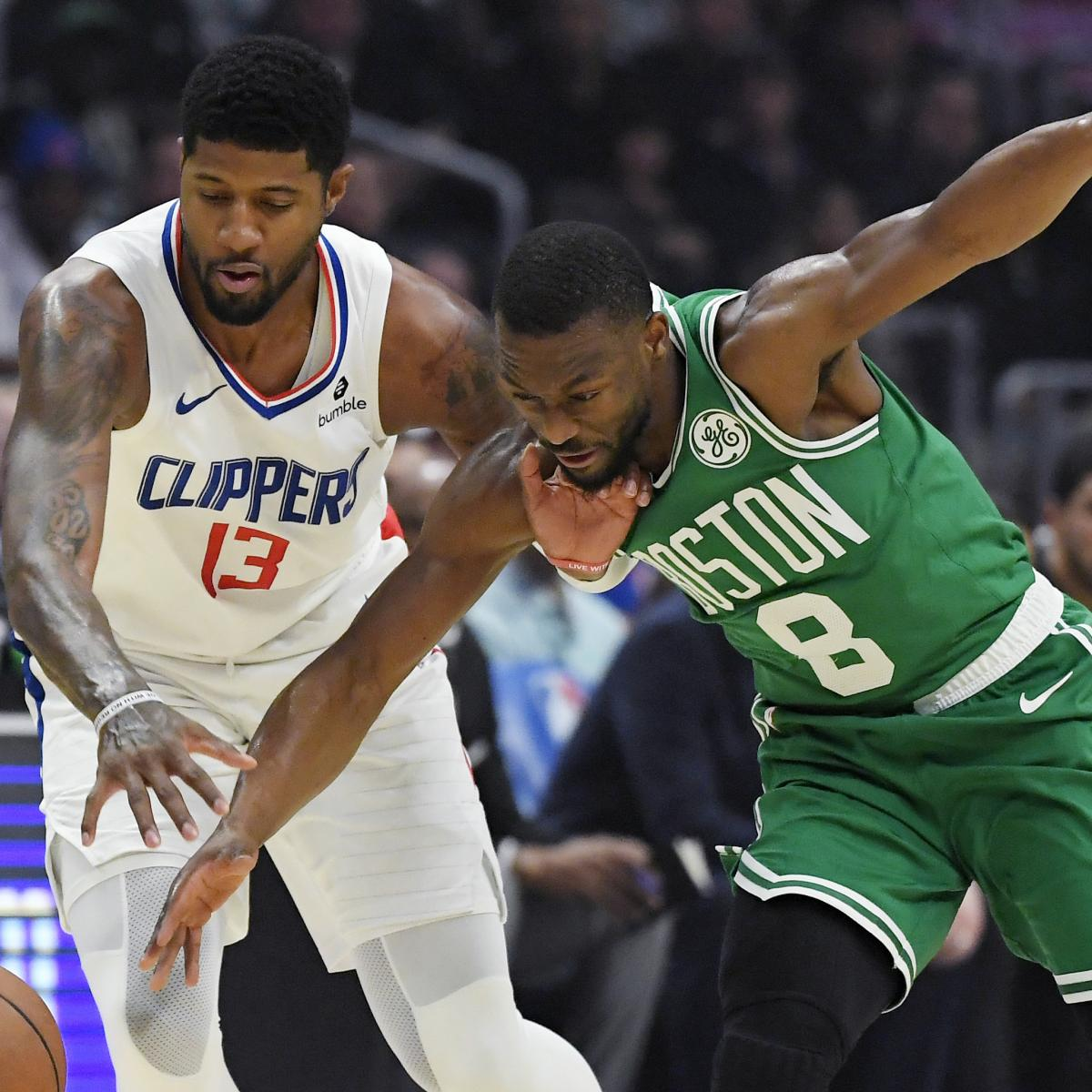 Kawhi Leonard, Paul George Combine to Power Clippers Past Jayson Tatum, Celtics