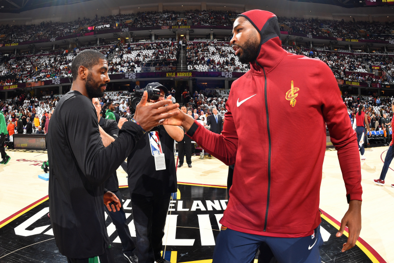 Tristan Thompson on Kyrie Irving: 'He's a Piece of S--t...No, I'm Joking'