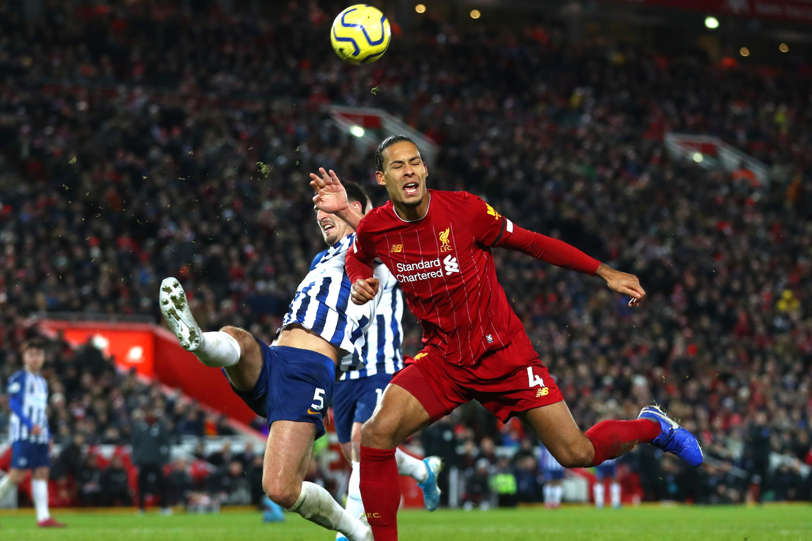 Virgil Van Dijk 10 Man Liverpool Hold On To Beat Brighton 2 1 In Premier League Bleacher Report Latest News Videos And Highlights