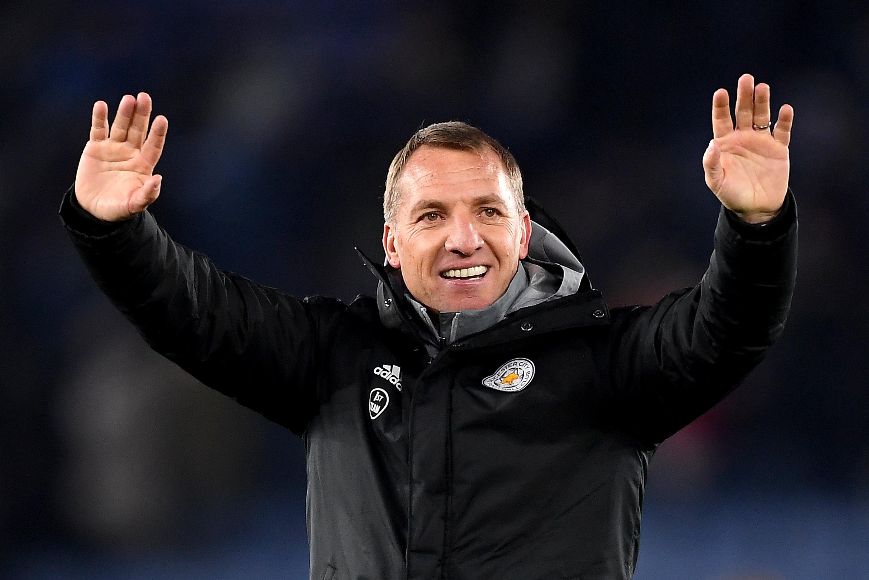 ผลการค้นหารูปภาพสำหรับ Brendan Rodgers 'very happy' at Leicester amid Arsenal interest