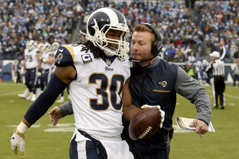 Rams' Sean McVay: Todd Gurley's Usage Uptick Due to 'Me Not Being an Idiot'