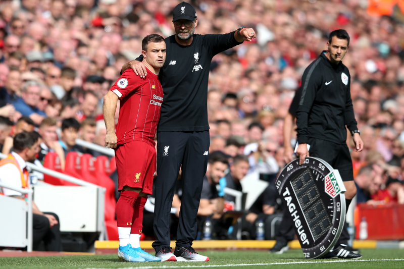 Jurgen Klopp Said 'Sorry' to Xherdan Shaqiri over Lack of Liverpool Playing Time