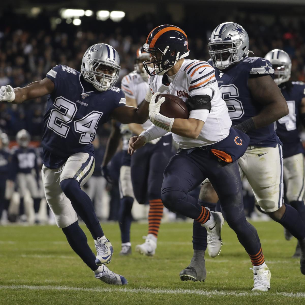 Mitch Trubisky Electric as Bears Cruise Past Ezekiel Elliott, Cowboys on TNF