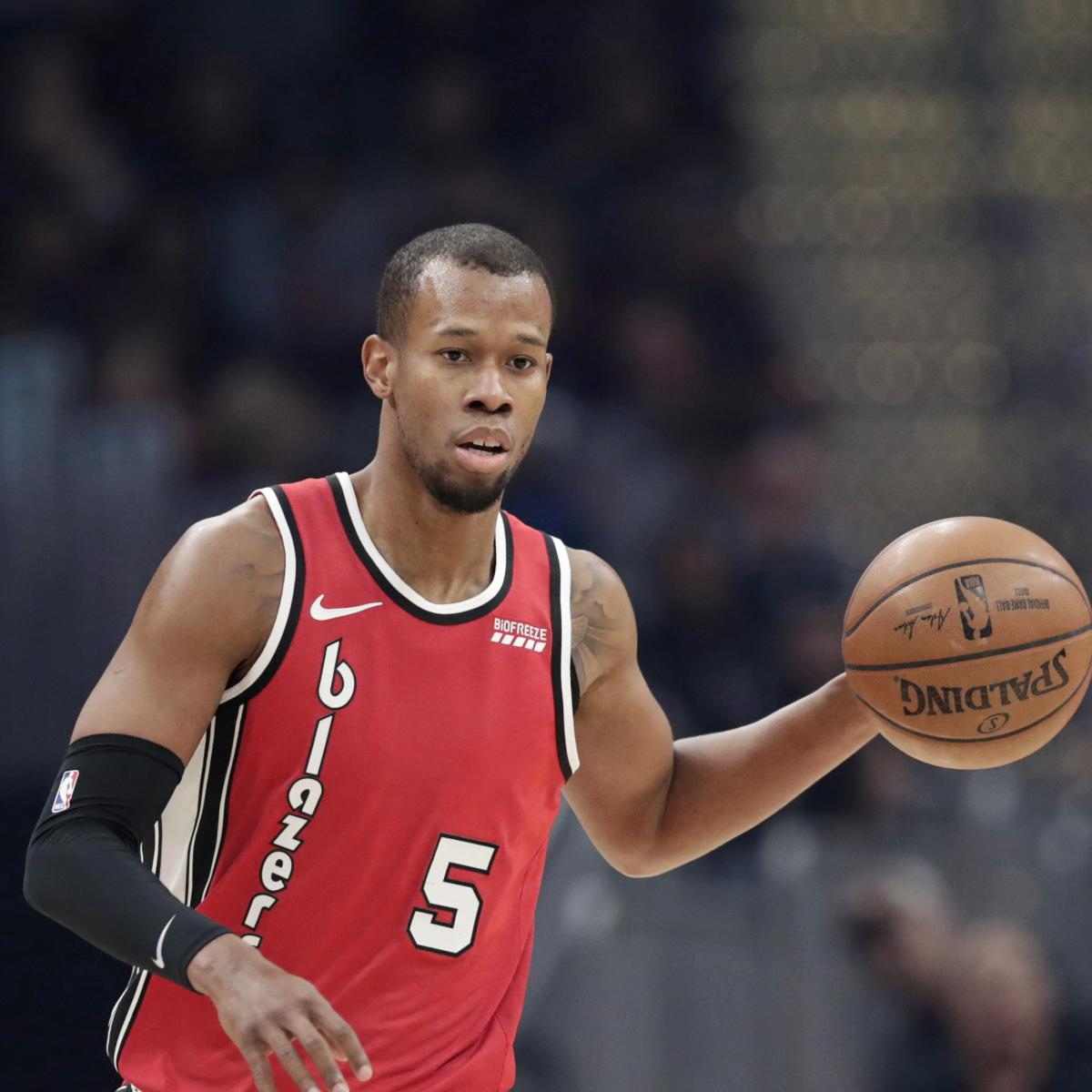 Trail Blazers' Rodney Hood's Leg Injury Diagnosed as Torn Achilles | Bleacher Report | Latest News, Videos and Highlights