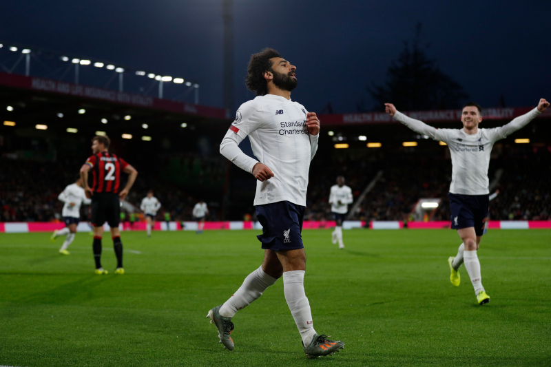 Mohamed Salah, Liverpool Breeze Past Bournemouth in Premier League