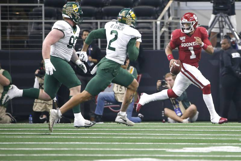 Jalen Hurts No 6 Oklahoma Outlast No 7 Baylor In Ot To