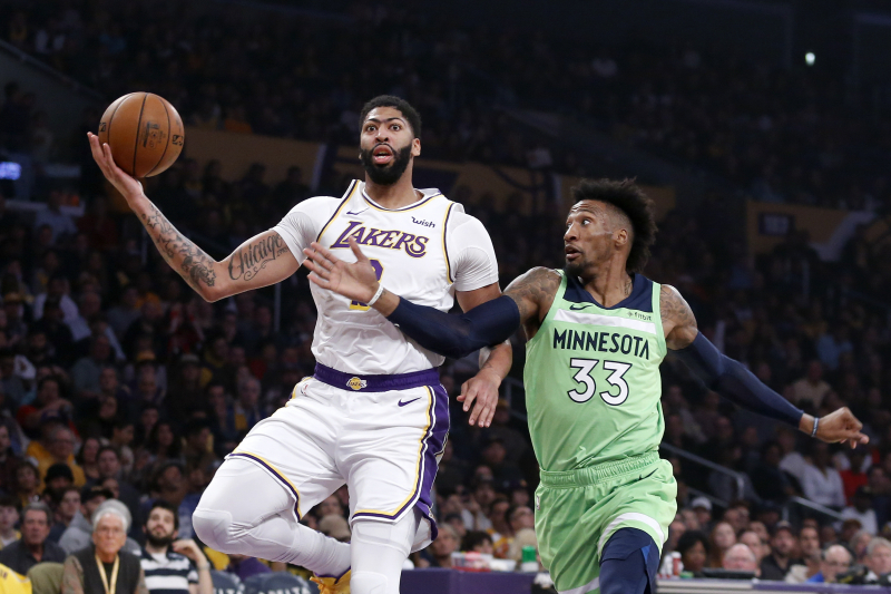 Anthony Davis Drops 50 to Help LeBron James, Lakers Blow Out Timberwolves