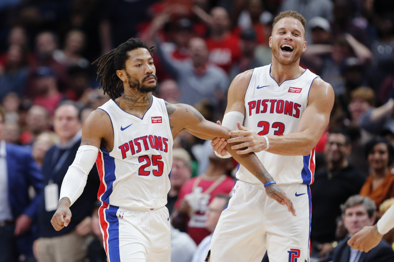 Pistons' Derrick Rose on Game-Winner vs. Pelicans: 'I'm Born to Do This S--t'