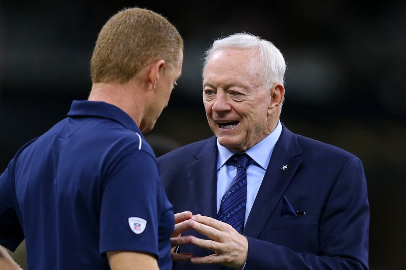 Jerry Jones: Cowboys Haven't Met with HC Candidates amid Jason Garrett Rumors