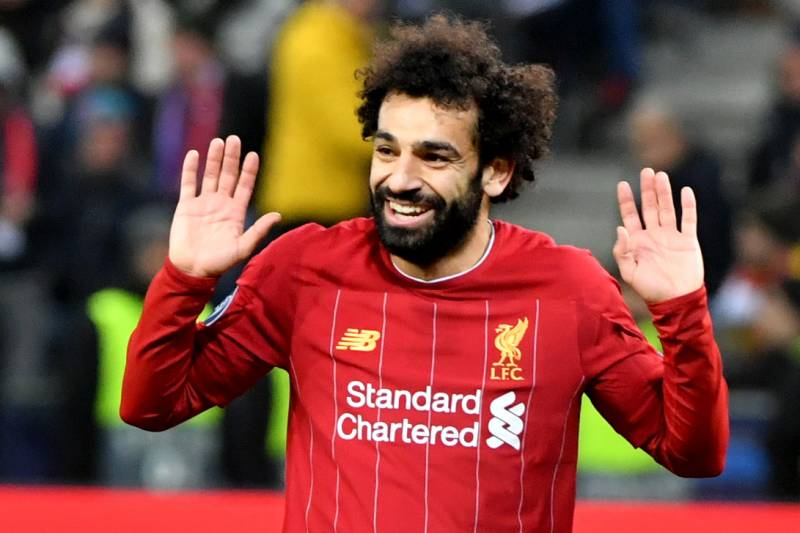Liverpool's Egyptian midfielder Mohamed Salah reacts at the end of the UEFA Champions League Group E football match between RB Salzburg and Liverpool FC on December 10, 2019 in Salzburg, Austria. (Photo by BARBARA GINDL / APA / AFP) / Austria OUT (Photo by BARBARA GINDL/APA/AFP via Getty Images)