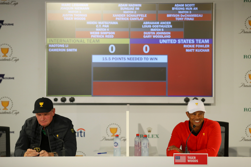 Presidents Cup 2019: Live Stream, TV Schedule for Day 1 Pairings