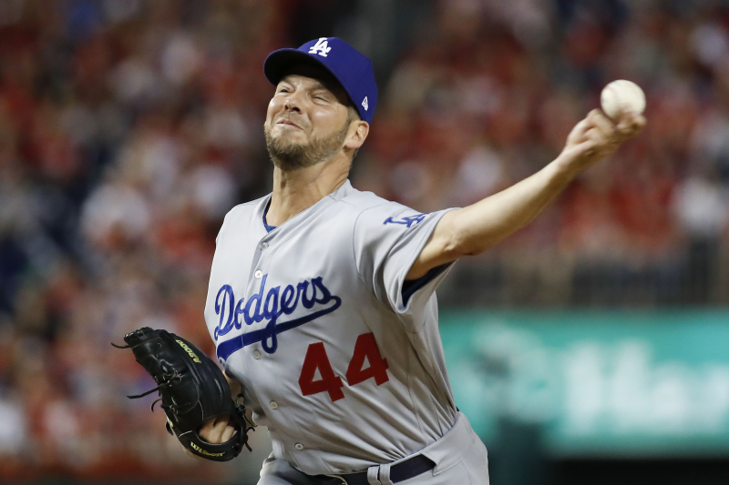 Rich Hill Drawing Interest from Dodgers, Red Sox Amid Rehab from Elbow Injury