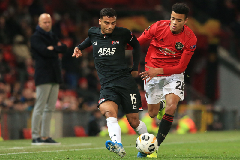 Mason Greenwood Brace Leads Manchester United Past AZ Alkmaar; Win Europa Group