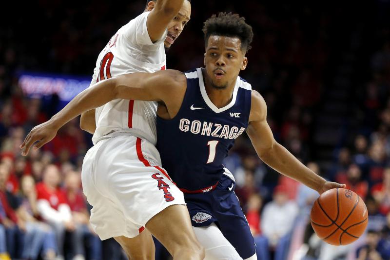 No. 6 Gonzaga Holds off No. 15 Arizona's Late Challenge for Win