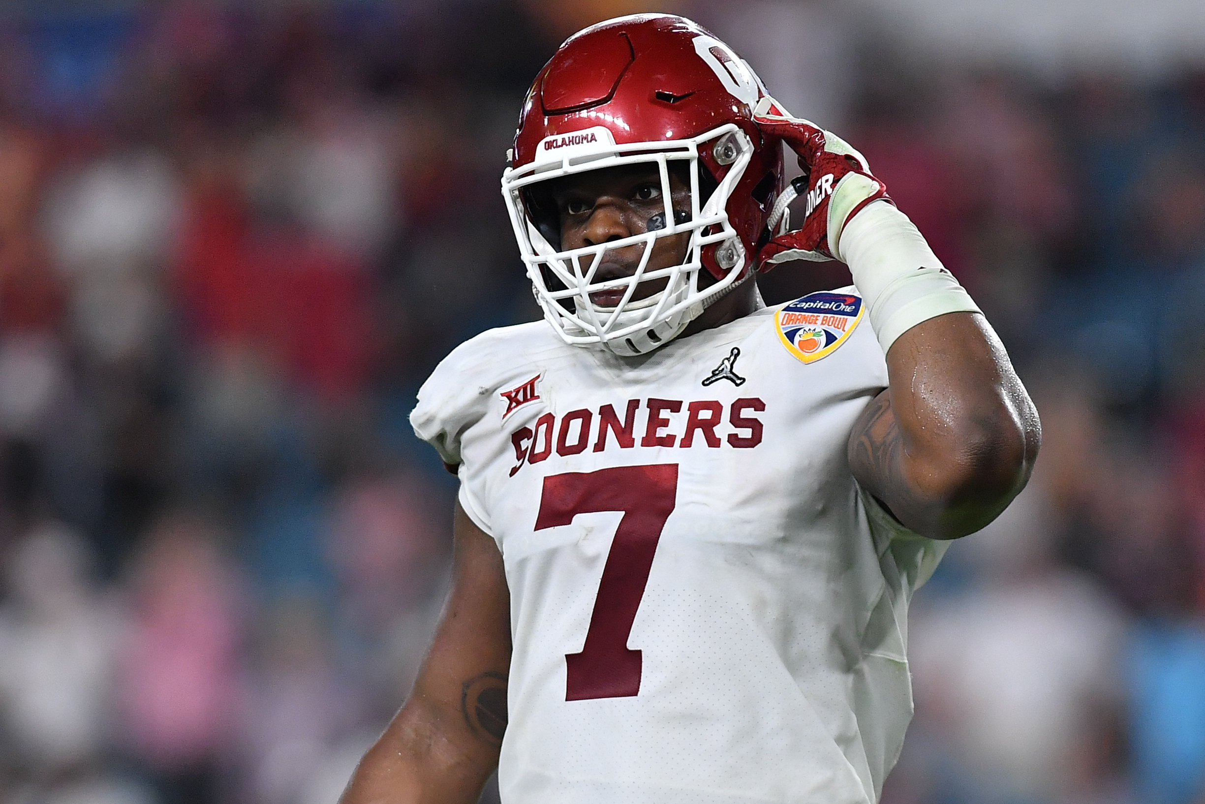 Report: Ronnie Perkins, 2 Oklahoma Players Suspended for Peach Bowl vs. LSU  | Bleacher Report | Latest News, Videos and Highlights