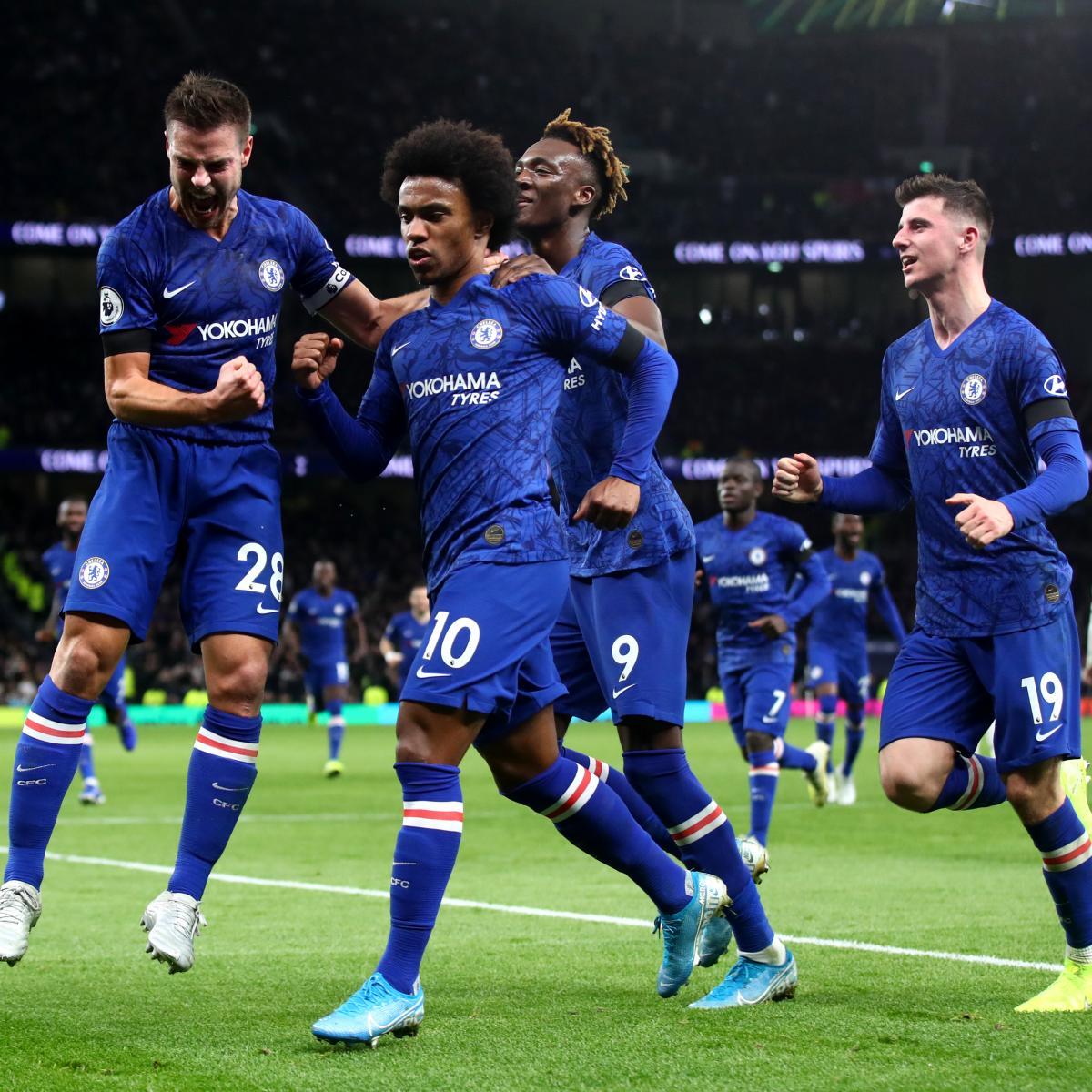 Willian Brace Powers Chelsea Past 10-Man Tottenham; Heung