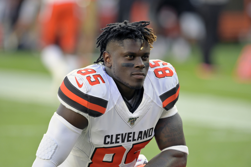 David Njoku on If He Has a Future with Browns: 'That's a Good Question'