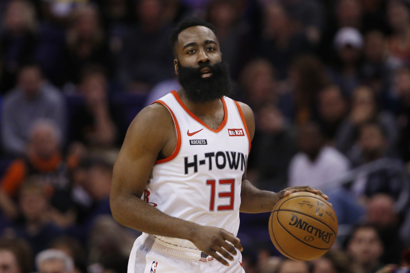 Harden out Injured for Rockets vs. Nuggets; Westbrook to Sit vs. Jazz Monday