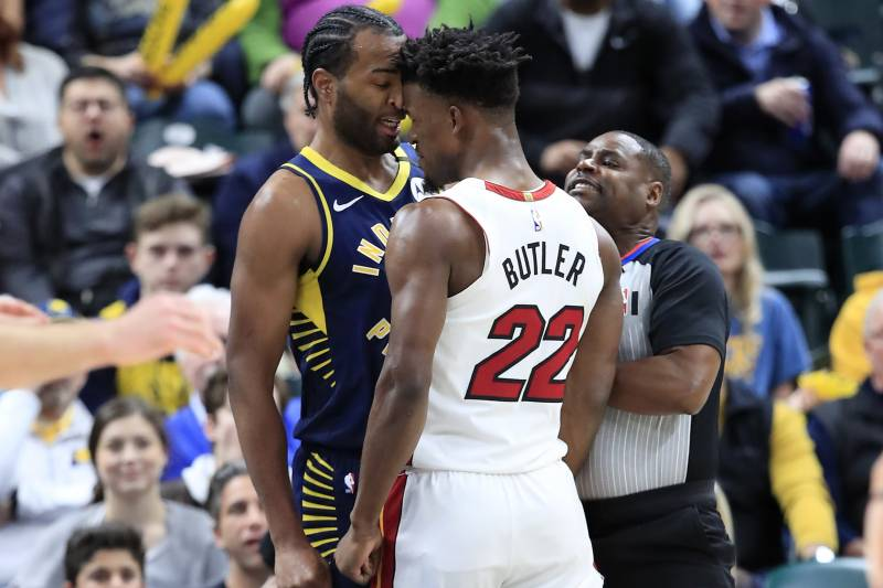 Heat's Jimmy Butler Fined $35K, Pacers' T.J. Warren $25K for ...