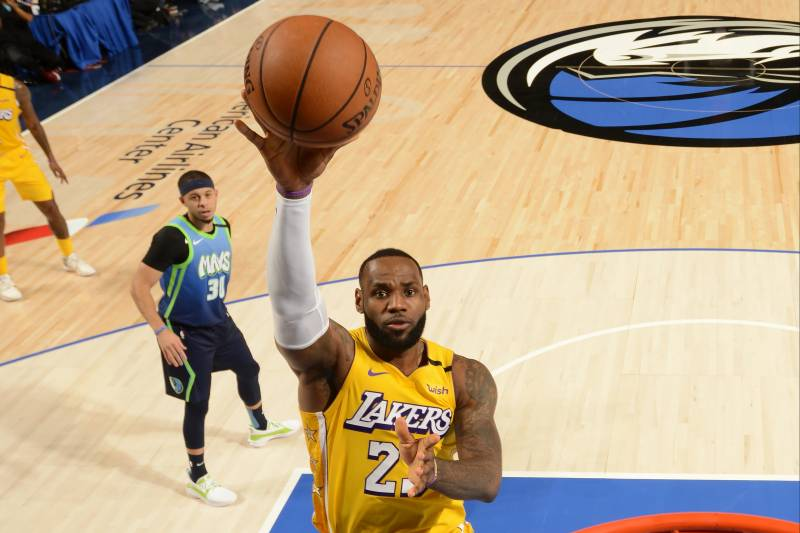 Lebron James Leads Lakers Past Luka Doncic Mavs Without