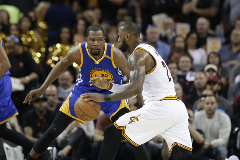 LeBron, Kawhi, Embiid Named on Kevin Durant's List of 5 Hardest Players to Guard