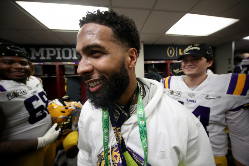 Odell Beckham Jr. Arrest Warrant Issued for Slapping Guard's Butt Post-LSU Win