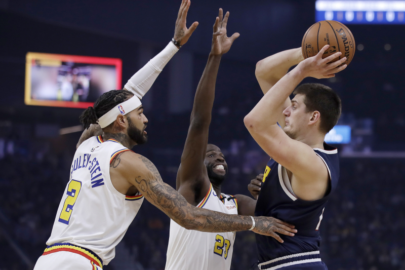 Nikola Jokic Powers Nuggets to OT Win over D'Angelo Russell, Warriors