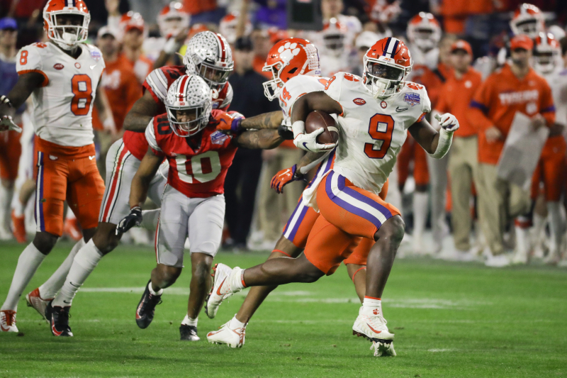 Travis Etienne, Najee Harris, Chuba Hubbard Top 2021 NFL Draft RB Prospects