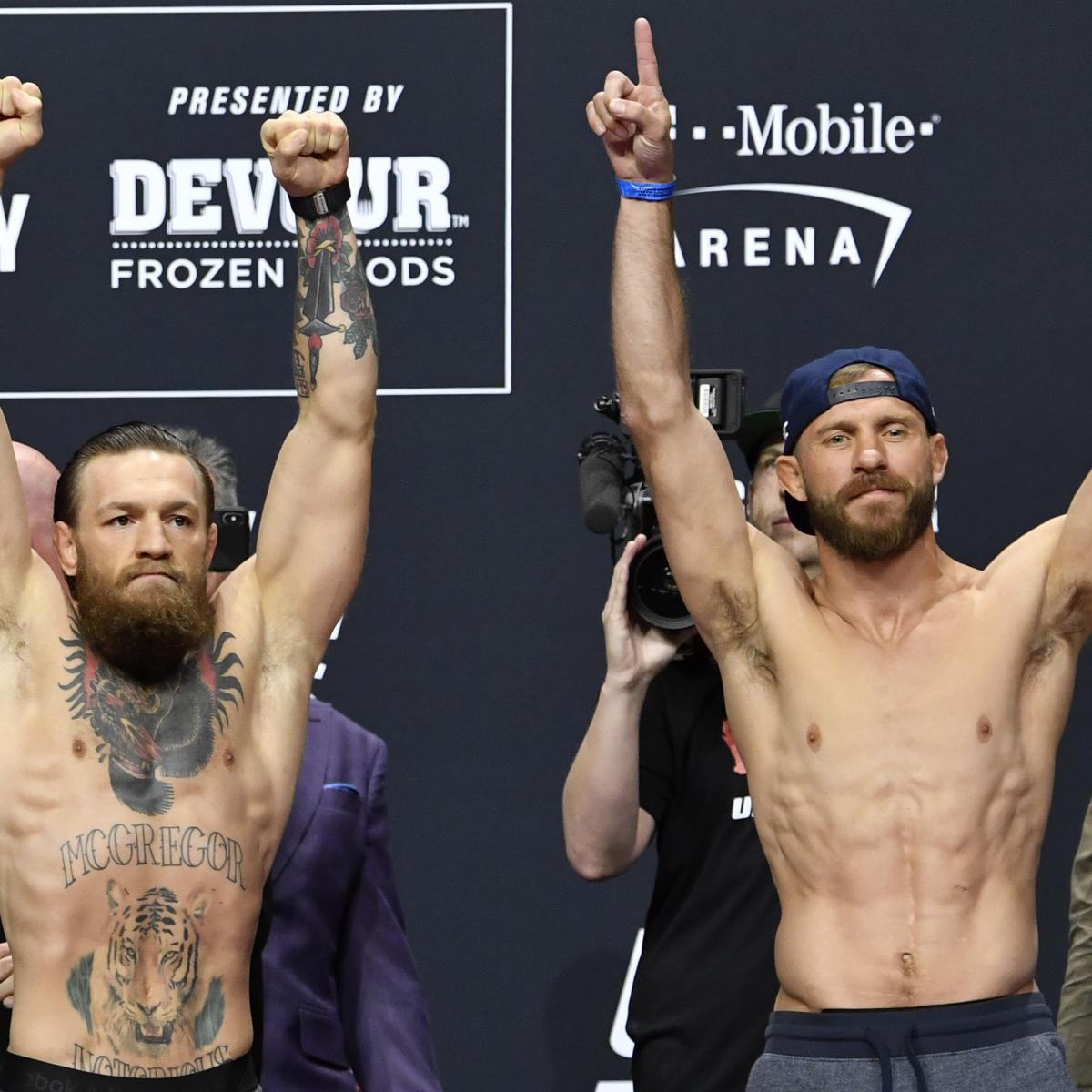 UFC 246 Fight Card: PPV Schedule, Odds and Predictions for McGregor vs. Cowboy | Bleacher Report | Latest News, Videos and Highlights