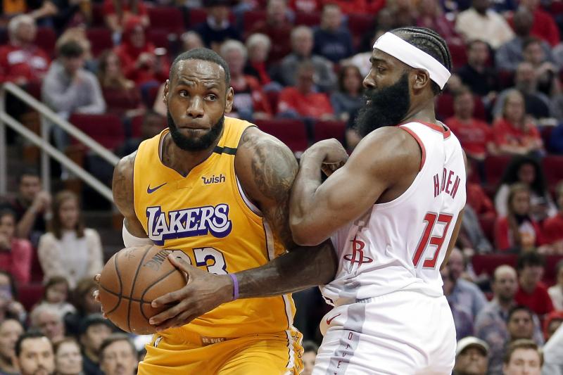 LeBron James, Lakers Beat James Harden, Rockets; Anthony Davis Sits with Injury