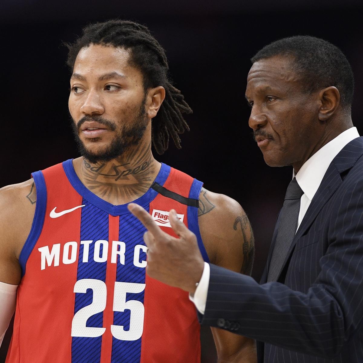 Derrick Rose Trade Rumors: Lakers, 76ers, More Interested in Pistons' PG