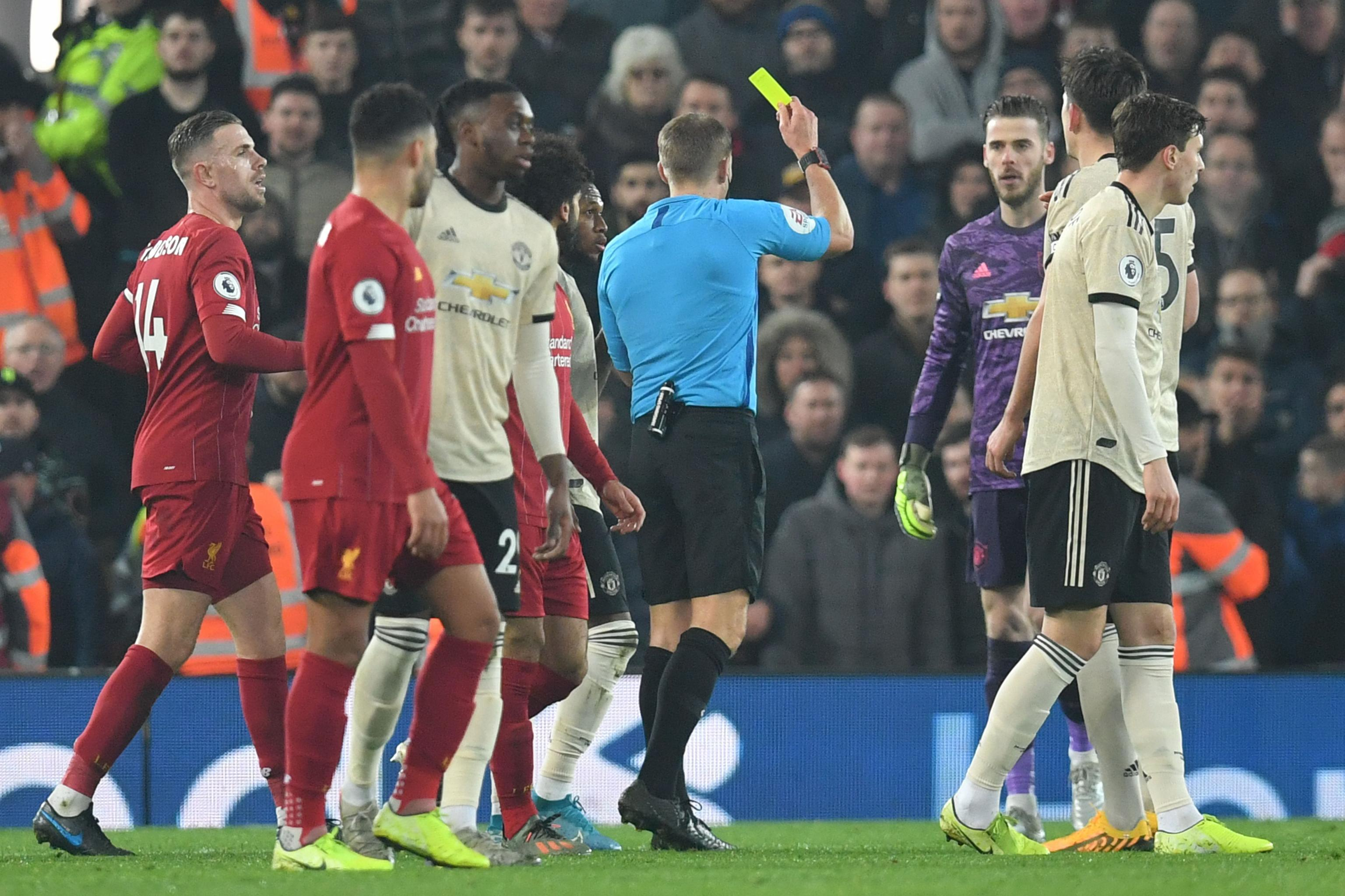 Man Utd fined after heated exchange with referee in Liverpool defeat