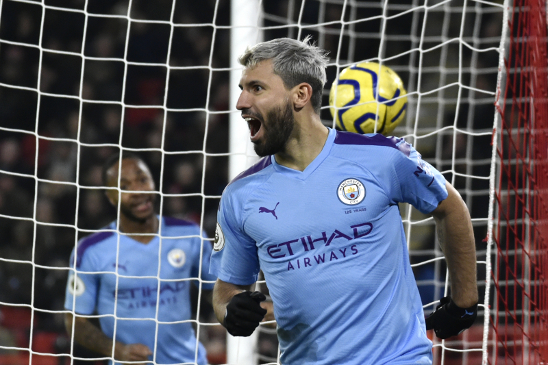 Sergio Aguero Scores Winner to Lead Manchester City over Sheffield United in EPL