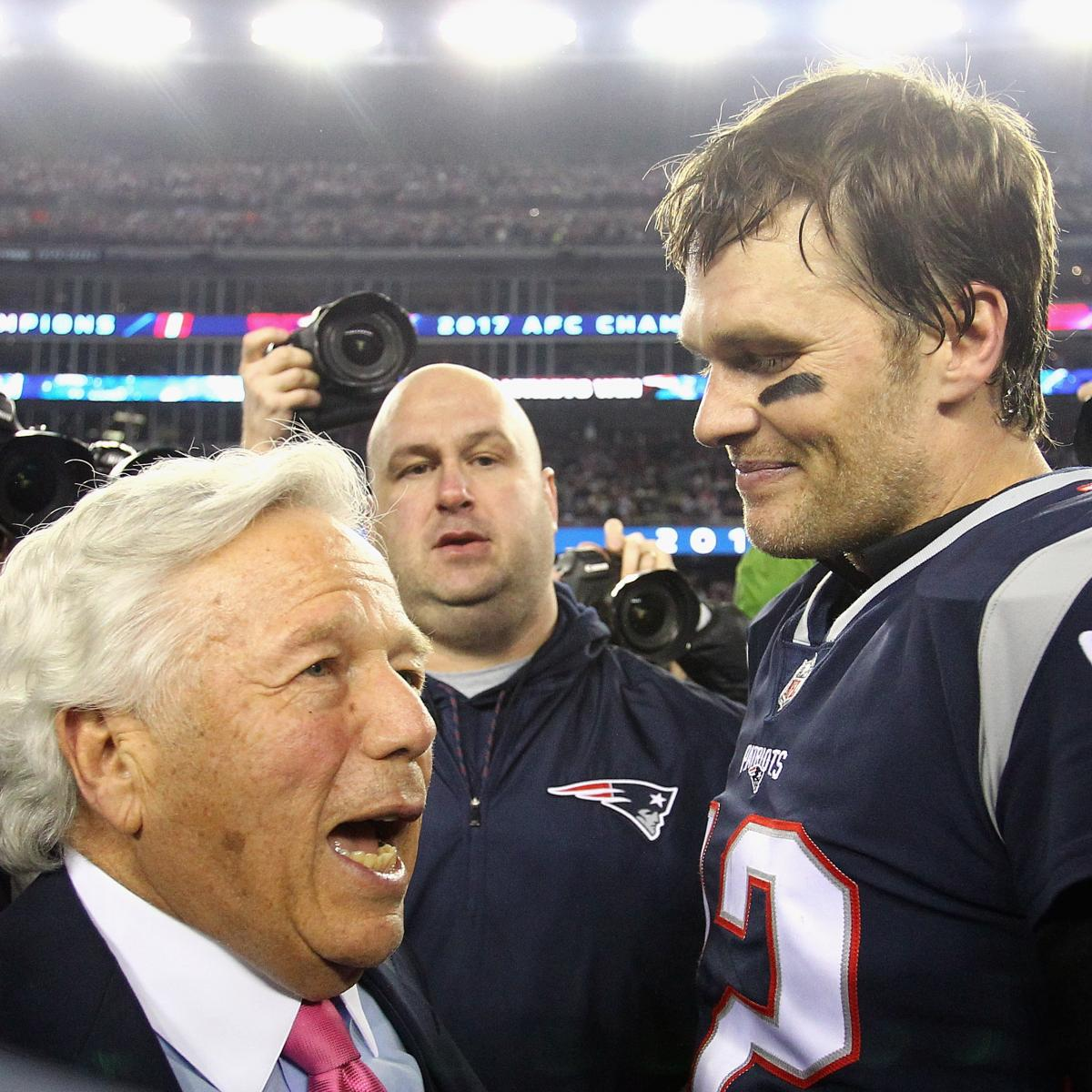 Robert Kraft on Tom Brady: Patriots 'Plan To' Sign QB to Contract Amid Rumors