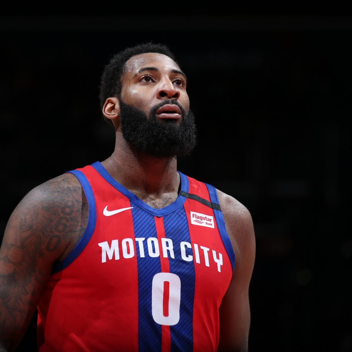 Signed Andre Drummond Picture - 16x20 #1 Motor City Slam Dunk  |Andre Drummond Pistons Dunk