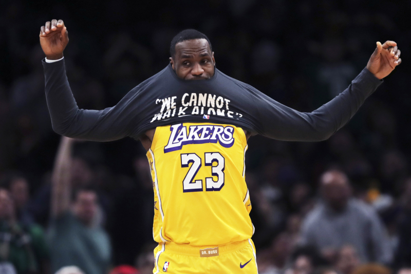 Lakers' LeBron James on Knicks Drafting Son Bronny: 'My Son Is in 9th Grade, Man'