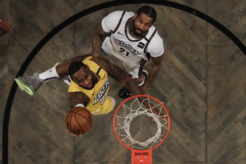 LeBron James Records Triple-Double as Lakers Beat Kyrie Irving, Nets 128-113