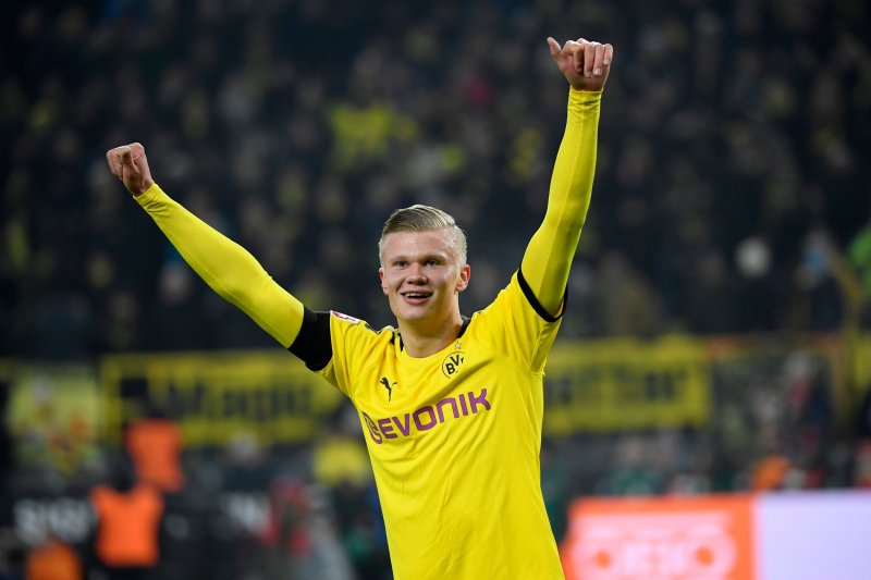 Erling Haaland Scores Twice for Borussia Dortmund, Breaks Bundesliga Record