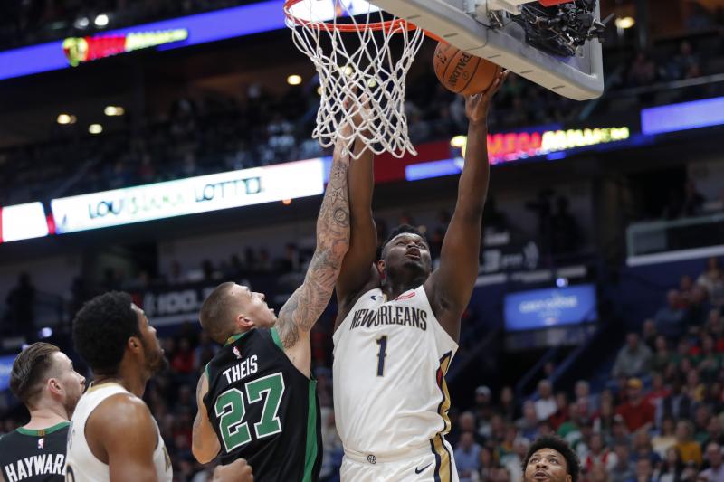 Zion Williamson, Pelicans Top Celtics 123-108 Despite Kemba Walker's 35 Points