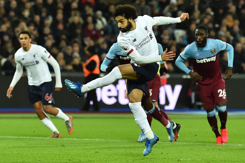 Mohamed Salah, Liverpool Remain Unbeaten in EPL with 2-0 Win over West Ham