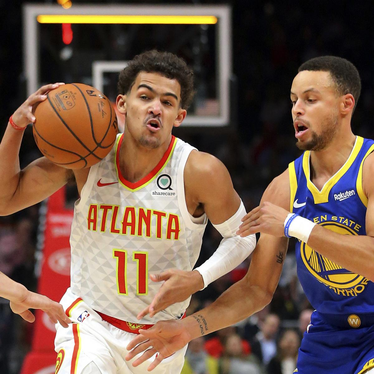 Trae Young Gets Fired Up to Play Stephen Curry, Kyrie Irving, Damian Lillard