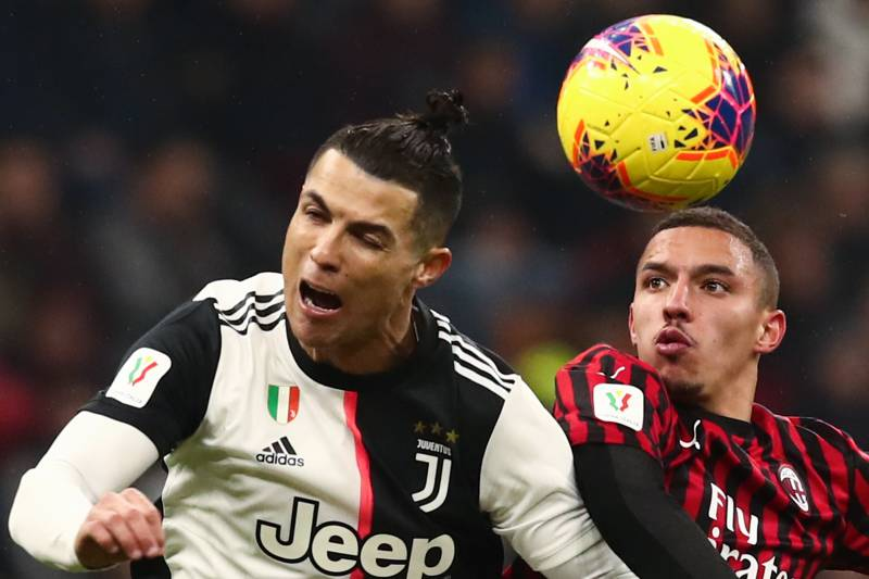 Cristiano Ronaldo penalty earns Juventus draw at 10-man Milan