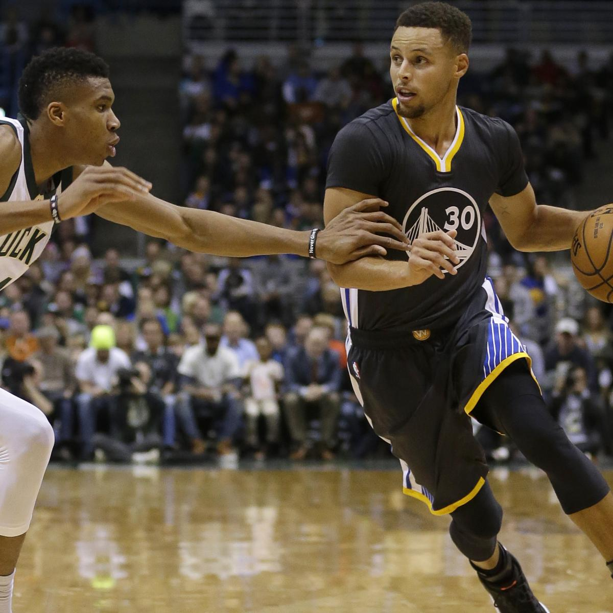 Giannis: NBA Players 'Kind of Enjoy' Steph Curry Being out Since He's so Good