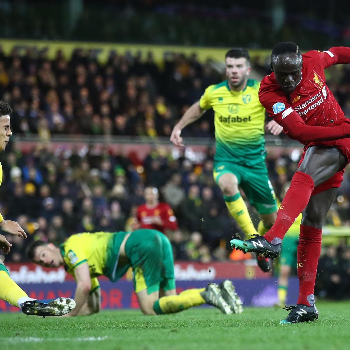 Sadio Mane's 100th English Goal Helps Liverpool Past Norwich to Stay Unbeaten